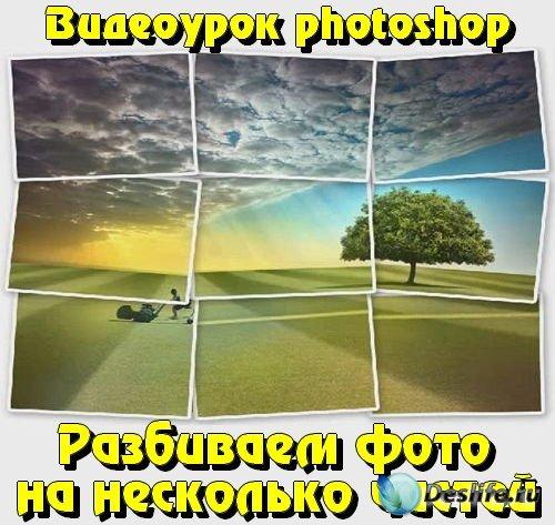 Видеоурок photoshop Разбиваем фото на несколько частей