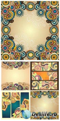 Фоны и баннеры с разноцветными узорами / Backgrounds and banners with color ...