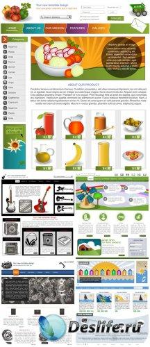 Векторные веб шаблоны для сайтов / Vector web templates, web design