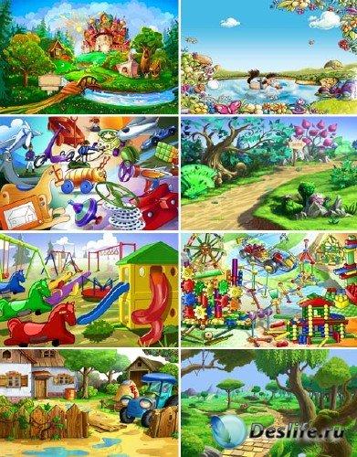 Детские игрушки и пейзажи