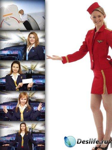 Клипарт профессии: Стюардесса