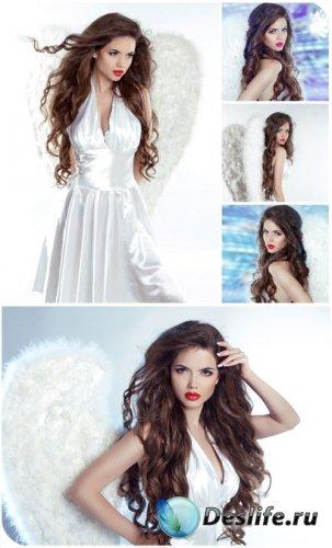 Ангел, девушка с крыльями / Angel, girl with wings - Stock photo