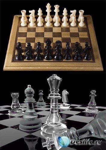 Шахматные фигуры и доски (подборка изображений)