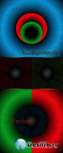 Декоративные абстрактные фоны в Векторе – Цветные круги