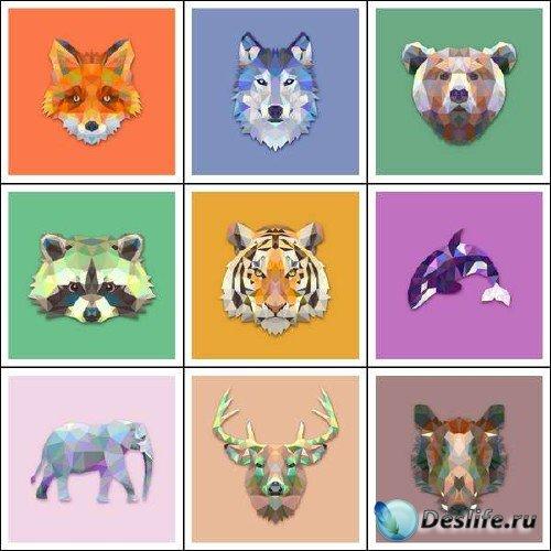 Оригинальный сборник с животными из треугольников