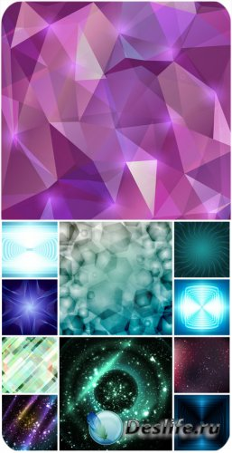 Абстрактные фоны в векторе, сияющие фоны / Abstract backgrounds in vector s ...