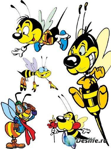 Насекомые: Пчела (подборка векторных отрисовок)