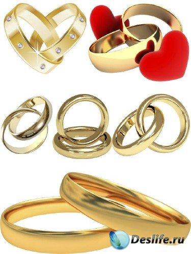 Обручальные кольца (прозрачный фон) большая подборка клипарта