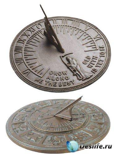 Солнечные часы (подборка клипарта)