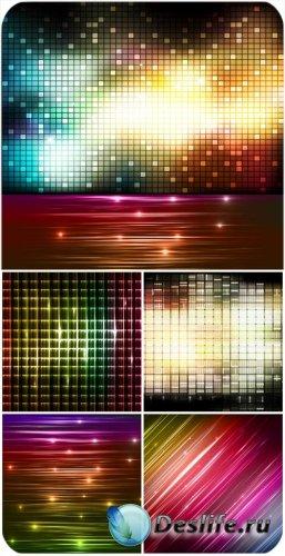 Векторные сверкающие фоны, абстракция / Vector glittering background, abstr ...