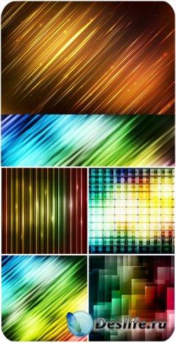Цветная абстракция, фоны в векторе / Color abstract backgrounds vector