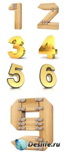 Коллекция 3D числа в растре