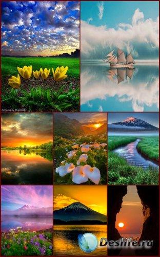 Пейзажные фоны для рамок и открыток 7