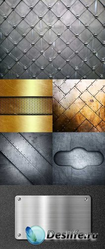 Растровый клипарт - Металлические фоны