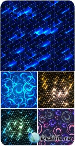Векторные фоны с красивым сиянием / Vector background with a beautiful glow