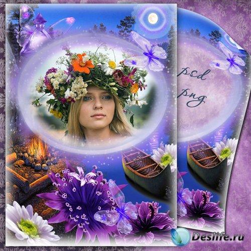 Рамочка для фото - Аромат ночных цветов
