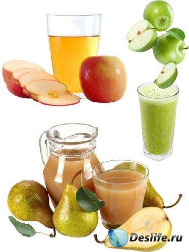 Натуральные соки: Яблочный и грушевый сок (подборка изображений)