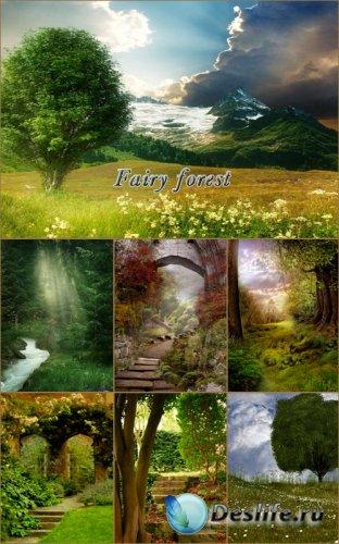 Пейзажные сказочные фоны для фотошопа