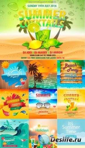 Векторные плакаты и шаблоны - Лето 2014