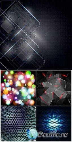 Темные абстрактные фоны с эффектом сияния / Dark abstract background with g ...
