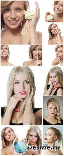 Красивые блондинки, девушка с розой / Beautiful blonde, girl with rose - St ...