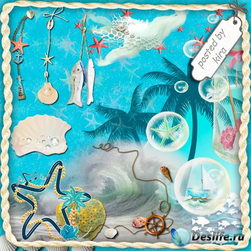 Клипарт  - Морские украшения для декора