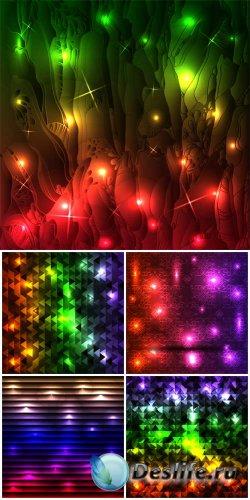 Абстрактные векторные фоны  / Abstract vector background with shining refle ...