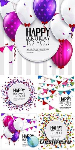 Воздушные шарики и гирлянды на день рождения / Balloons and garlands birthd ...