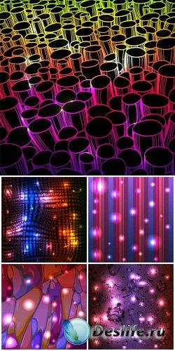 Абстрактные векторные фоны, сияющие фоны / Abstract vector background, shin ...