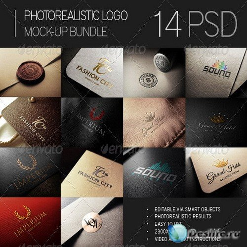 Photorealistic Logo Mock-Up Bundle - 7394151