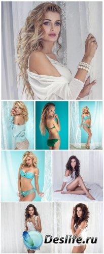Красивые девушки, брюнетки, блондинки / Beautiful girl, brunette, blonde -  ...