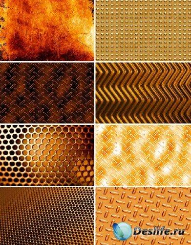 Коллекция текстур желтого металла