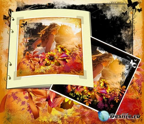Осень - романтическая рамка для фото