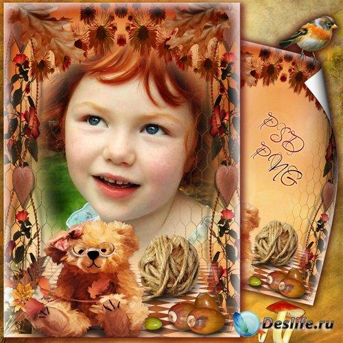 Рамка для фото - Рыжеволосая осень