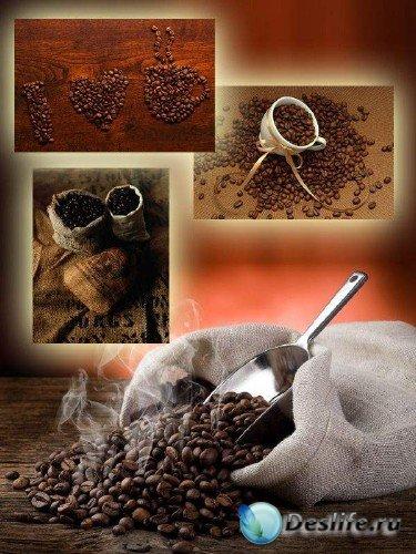 Ароматные кофейные зерна подборка растровых изображений