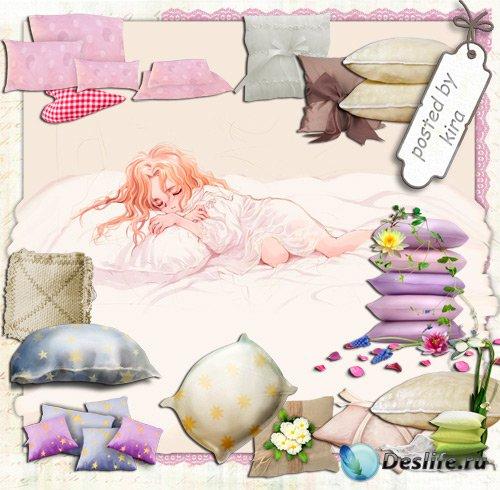 Клипарт на прозрачном фоне - Разнообразные подушки