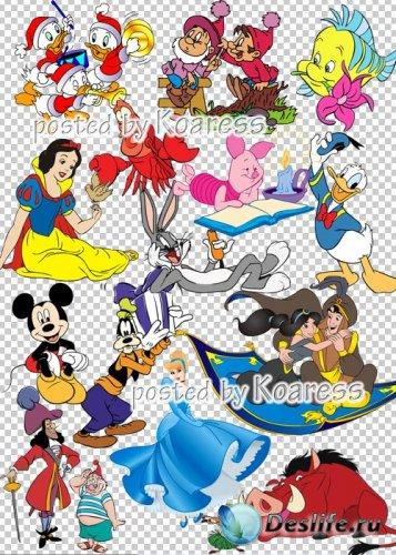 Сборник клипарта в формате png для дизайна- Герои любимых мультфильмов