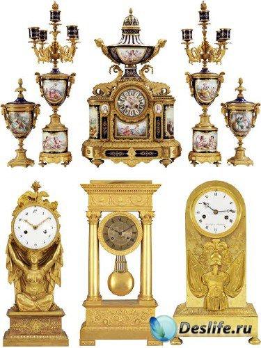 Часы настольные позолоченные (подборка клипарта)