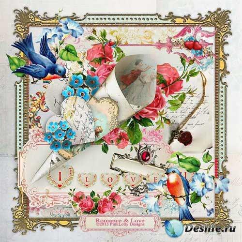 Романтический скрап-комплект в винтажном стиле - Романтика и Любовь