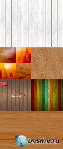 Векторные деревянные фоны 6