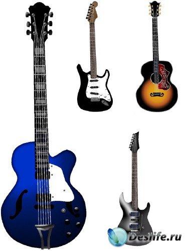 Музыкальные инструменты: Гитара (вектор)