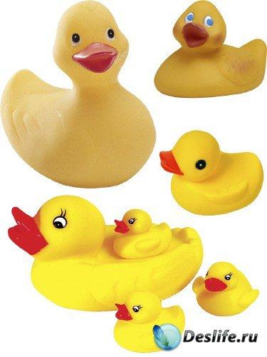 Игрушки: Уточка для ванной (подборка изображений)