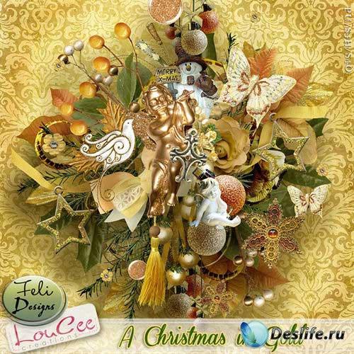 Зимний скрап-комплект - Золотое Рождество