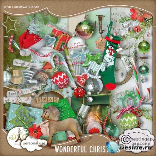 Новогодний скрап-комплект - Чудесное Рождество