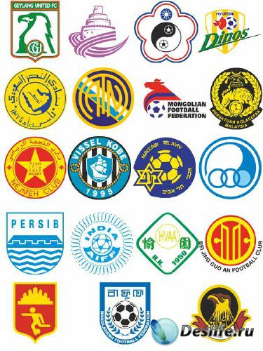 Логотипы и эмблемы футбольных команд Азии