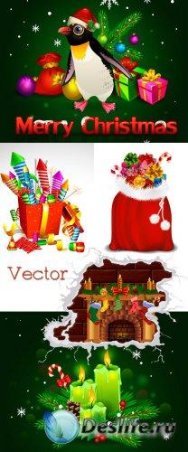 Новогодние фоны в Векторе – Подарки к Празднику