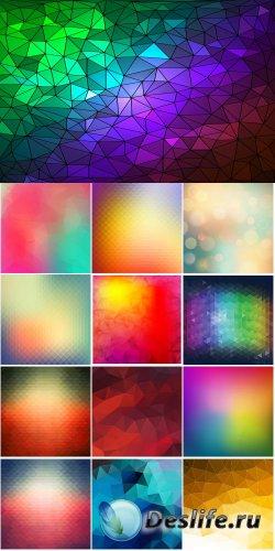 Разноцветные фоны - векторный клипарт