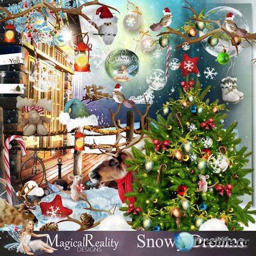 Зимний скрап-комплект - Снежные мечты