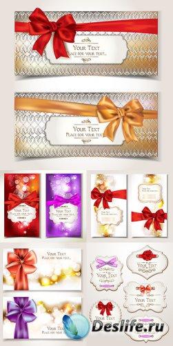 Новогодние подарочные карточки и баннеры в векторе 2