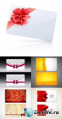 Новогодние подарочные карточки и баннеры в векторе 3